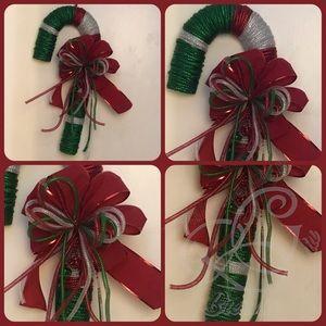 Christmas Candy Cane Wreath